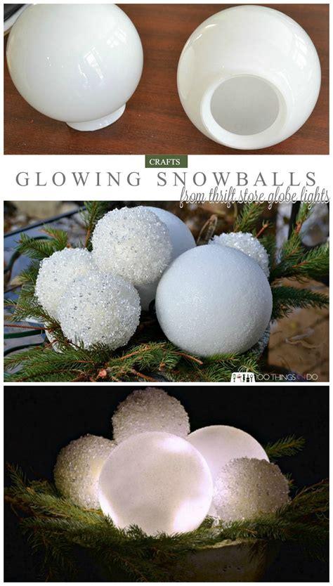glowing snowballs winter decor christmas outdoor