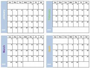 6 best images of printable 2016 calendar 4 month per page With 4 month calendar template 2015