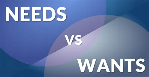 Needs Vs Wants  Sage International, Inc