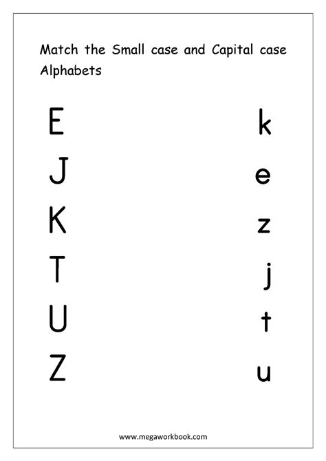 english worksheets alphabet matching alphabet matching