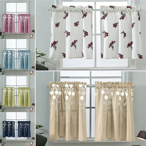 kitchen cafe curtain panel curtains half drapes