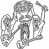 Band Coloring Pages Bands Marching Battle Printable Rock Instruments Musical Colorings Supercoloring Getdrawings Music Roll Drawing Getcolorings sketch template