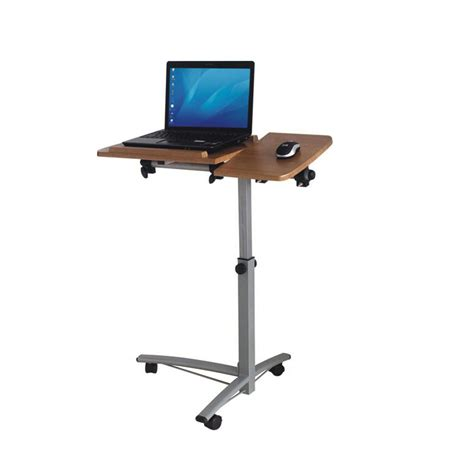 adjustable standing computer desk portable standing wooden top laptop desk with mouse stand