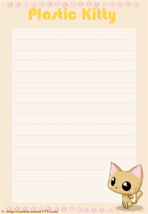 the kitty letter writing paper