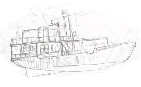 House Boat Drawing by House Boat Sterling Sheehy S Archive