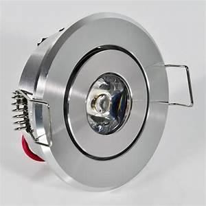 Led Spot 230v : 1 w watt led einbaustrahler einbauleuchte einbauspot schwenkbar smd weiss 230v ebay ~ Watch28wear.com Haus und Dekorationen