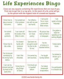 ice breaker bingo free printable the flanders family website