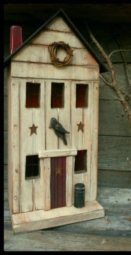 Primitive Birdhouse Farmhouse Crow