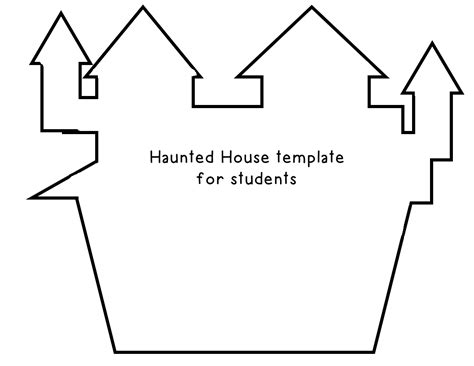 haunted house template 4 best images of haunted house template printable haunted house template printable free