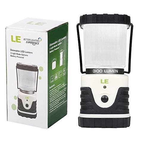 le 174 outdoor led lantern ultra bright 300lm shockproof skidproof home garden and cing