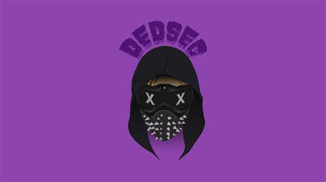 wallpaper dedsec  dogs minimal purple
