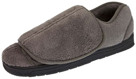 mens extra wide fit slippers orthopaedic diabetic