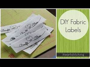 diy fabric labels youtube knitting pinterest With diy label printing
