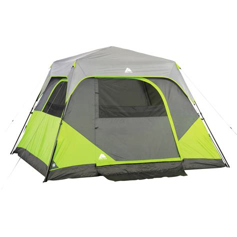 ozark trail 12 person instant cabin tent with screen room ozark trail 6 person instant cabin tent walmartcom