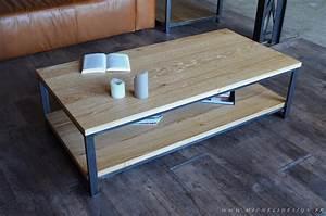 Table Chene Massif : table basse industrielle style industriel micheli design ~ Melissatoandfro.com Idées de Décoration