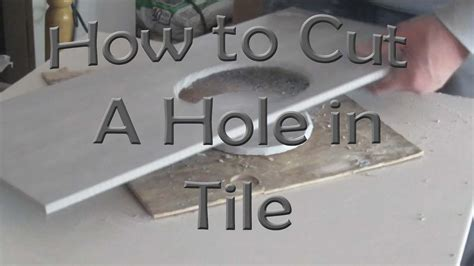 how to cut a in ceramic tile for toilet flange with