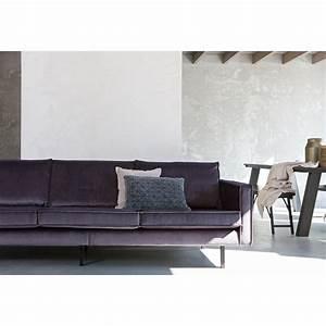 Canapé 4 Places : grand canap velours 3 4 places velvet bronco par ~ Teatrodelosmanantiales.com Idées de Décoration