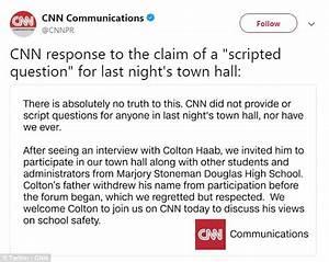 Shooting survivor claims CNN gave him scripted question ...