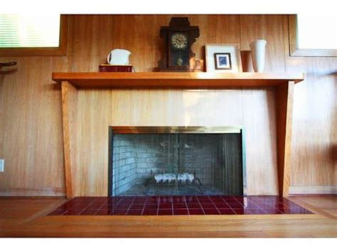 mid century modern mantle fireplace makeover ideas bright green door the lettered cottage