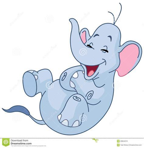 laughing elephant stock vector illustration  elephant