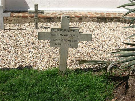 Gravestone For Eduardo Melendrez.(1906-1909). Located At