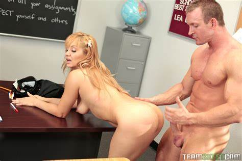 Beautiful Blond Fun Tutor