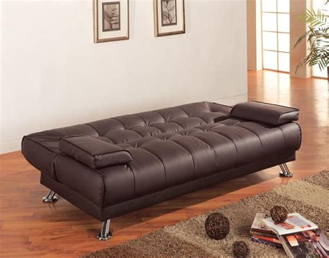 living room sofa beds casual brown  chrome sofa bed