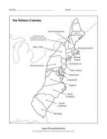 Blank 13 Colonies Map Printable
