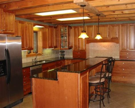 Small Log Cabin Kitchen Ideas by Decoration Ideas For Galley Kitchen In Log Cabin Home