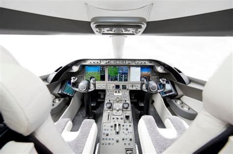 bombardier premiers sleek learjet  aircraft interior
