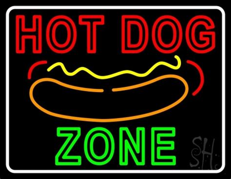 hot dog zone  border neon sign restaurant neon signs