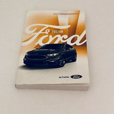 ford fusion owners manual kit  shipping ebay