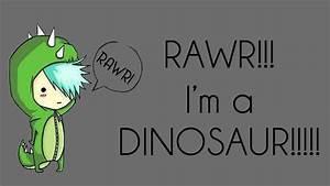 Rawr, I'm a dinosaur by AlexAKADucky on DeviantArt