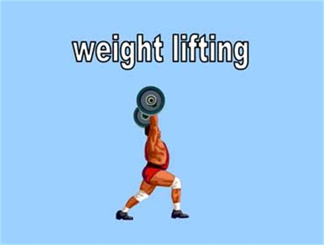 exercise  fitness vocabulary esl health unit