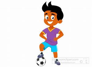 Soccer Clipart : boy-football-player-standing-with ...