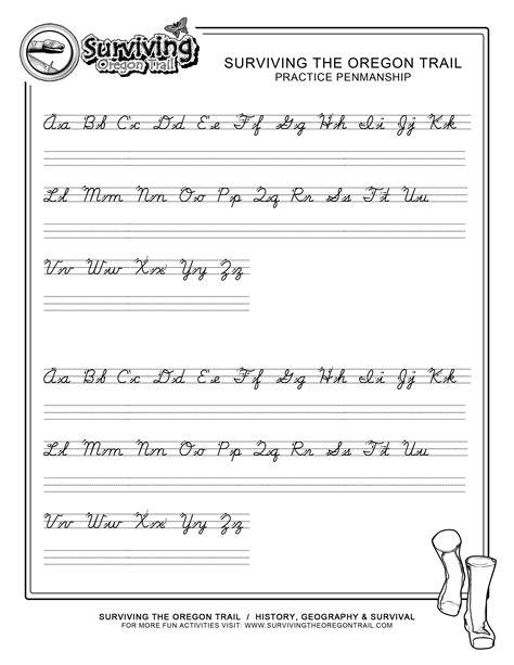 cursive letters worksheets printable a z letters