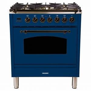 Hallman 30 In  3 0 Cu  Ft  Single Oven Italian Gas Range