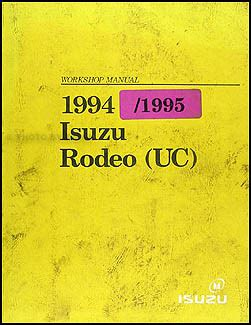 Isuzu Rodeo Electrical Troubleshooting Manual Original