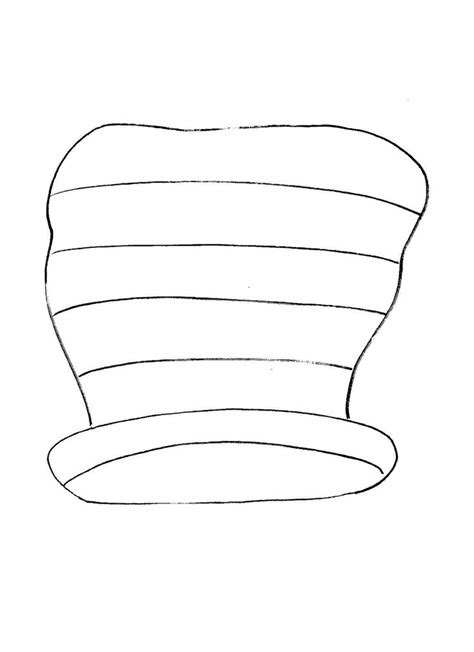 cat   hat clipart outline clipground