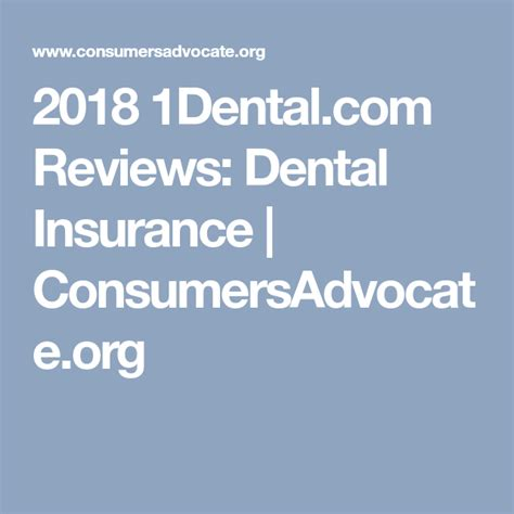 He understands the difference between compounded annualized growth rates and annual averages, but. 2018 1Dental.com Reviews: Dental Insurance | ConsumersAdvocate.org | Cheap dental insurance ...