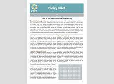 Policy Brief Template doliquid