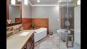 salle de bain moderne avec baignoire youtube With salle de bains moderne