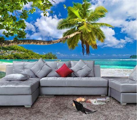tropical beach palm tree wallpaper mural