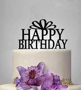 1pcs Happy Birthday Cake Topper Acrylic Elegant Birthday