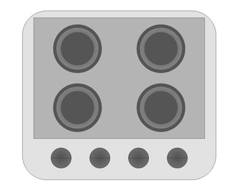 36 oven range design elements valves appliances vector stencils
