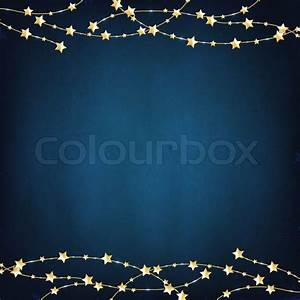 Xmas Blue Background With Gold Stars | Stock Photo | Colourbox