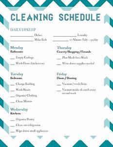 laura thoughts housekeeping With domestic cleaning schedule template