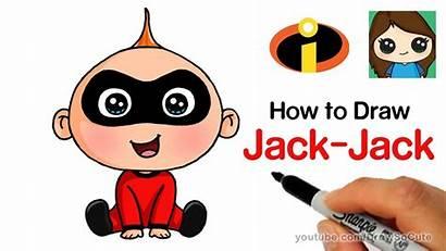 Incredibles Draw Drawing Jack Easy Drawings Simple