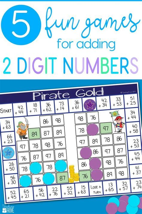 Line up the numbers according to place value taking care to place the bigger 1st grade math. Two Digit Addition without Regrouping   Math addition games, 1st grade math games, Addition games