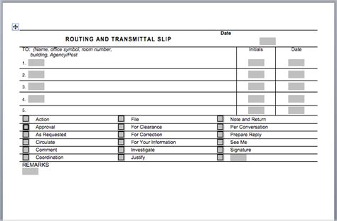 Office Routing Slip Template office routing slip template format exle